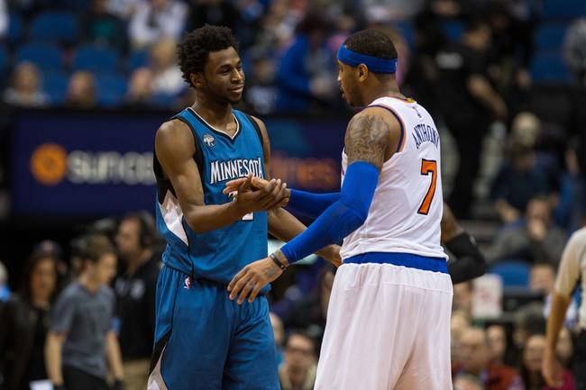 New York Knicks vs. Minnesota Timberwolves - 12/2/16 NBA Pick, Odds, and Prediction