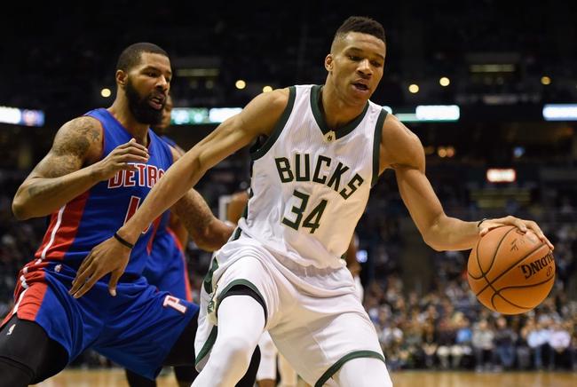 Pistons vs. Bucks - 3/21/16 NBA Pick, Odds, and Prediction