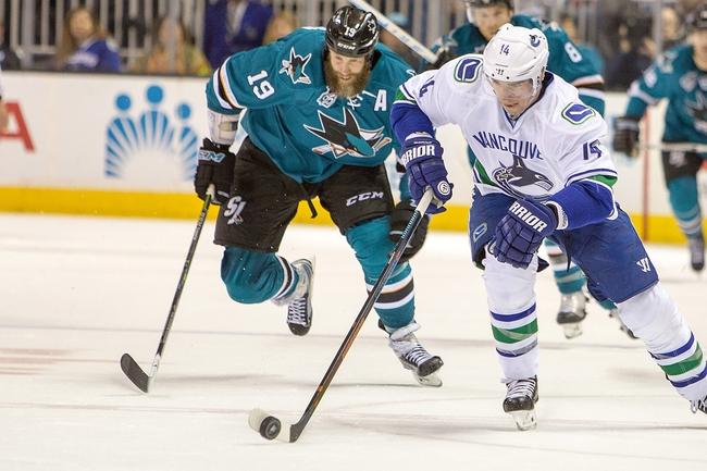 Canucks vs. Sharks - 3/29/16 NHL Pick, Odds, and Prediction