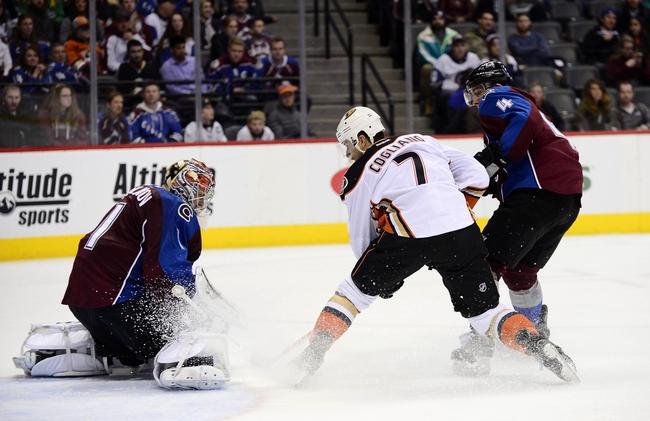 Avalanche vs. Ducks - 4/9/16 NHL Pick, Odds, and Prediction