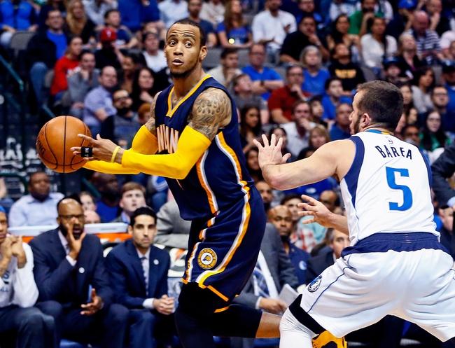 Indiana Pacers vs. Dallas Mavericks - 10/26/16 NBA Pick, Odds, and Prediction