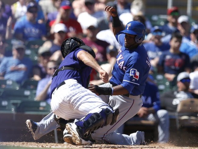 Colorado Rockies vs. Texas Rangers - 8/8/16 MLB Pick, Odds, and Prediction