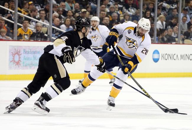 Nashville Predators vs. Pittsburgh Penguins - 10/22/16 NHL Pick, Odds, and Prediction