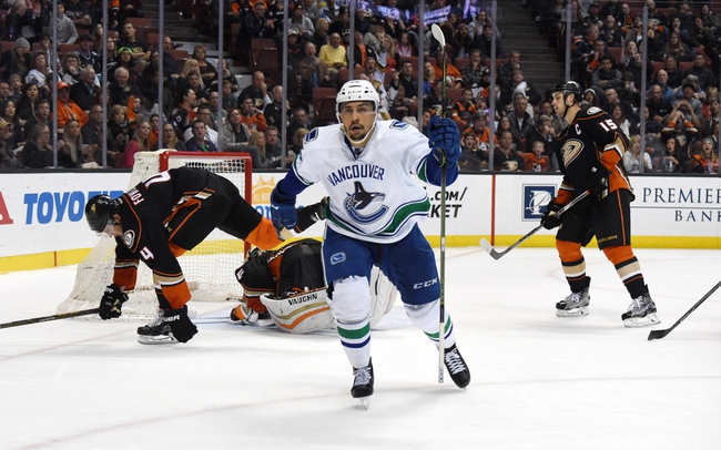 Anaheim Ducks vs. Vancouver Canucks - 10/23/16 NHL Pick, Odds, and Prediction