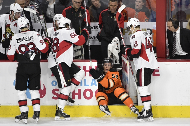Philadelphia Flyers vs. Ottawa Senators - 11/15/16 NHL Pick, Odds, and Prediction
