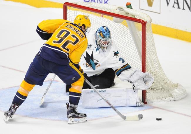 Predators at Sharks Game 1 - 4/29/16 NHL Pick, Odds, and Prediction