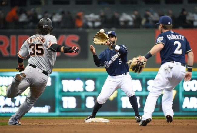 Giants vs. Brewers - 6/13/16 MLB Pick, Odds, and Prediction