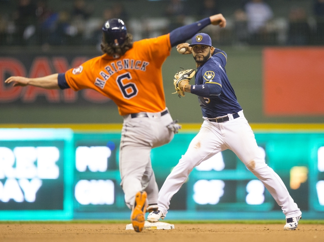 Milwaukee Brewers vs. Houston Astros - 4/10/16 MLB Pick, Odds, and Prediction