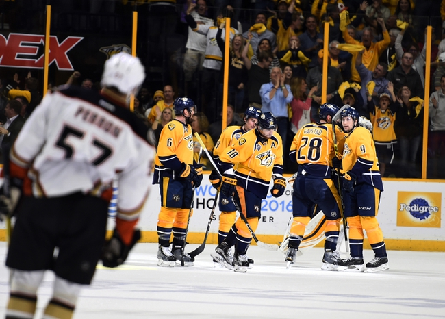 Anaheim Ducks vs. Nashville Predators - 4/27/16 NHL Pick, Odds, and Prediction