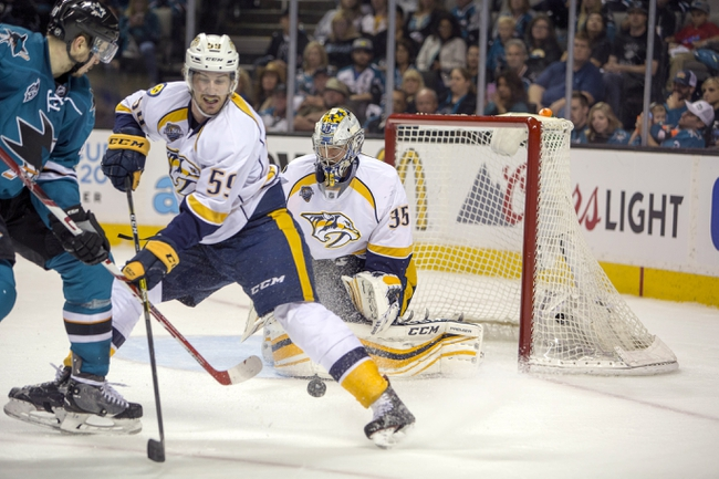 Sharks at Predators Game 3 - 5/3/16 NHL Pick, Odds, and Prediction