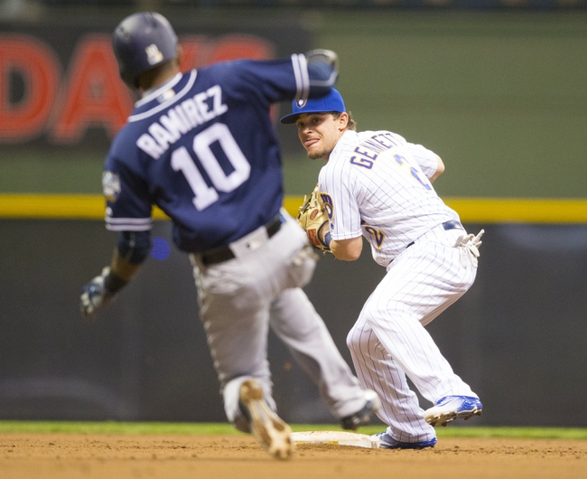 Milwaukee Brewers vs. San Diego Padres - 5/14/16 MLB Pick, Odds, and Prediction