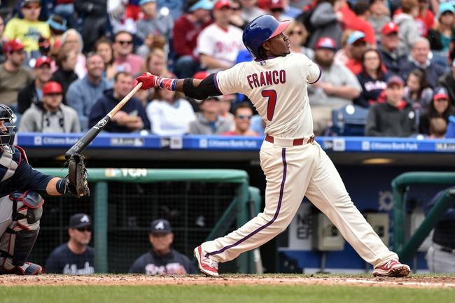 Phillies vs. Braves - 7/4/16 MLB Pick, Odds, and Prediction