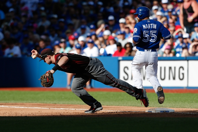 Blue Jays at Diamondbacks - 7/19/16 MLB Pick, Odds, and Prediction