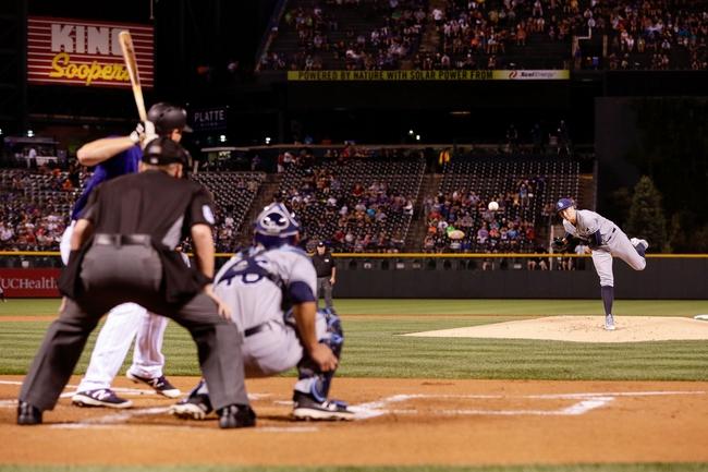 Colorado Rockies vs. Tampa Bay Rays - 7/20/16 MLB Pick, Odds, and Prediction