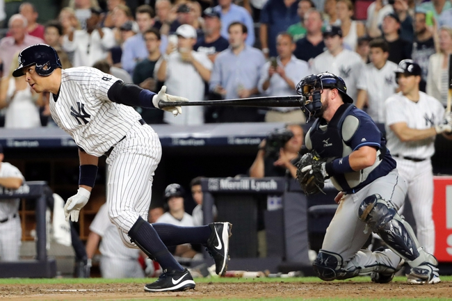 New York Yankees vs. Tampa Bay Rays - 8/13/16 MLB Pick, Odds, and Prediction