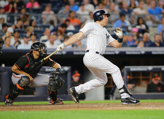 New York Yankees vs. Baltimore Orioles - 8/27/16 MLB Pick, Odds, and Prediction
