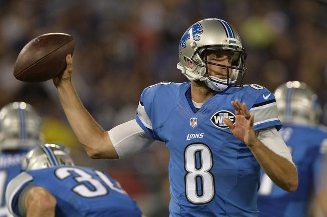 Detroit Lions vs. Buffalo Bills - 9/1/16 NFL Pick, Odds, and Prediction