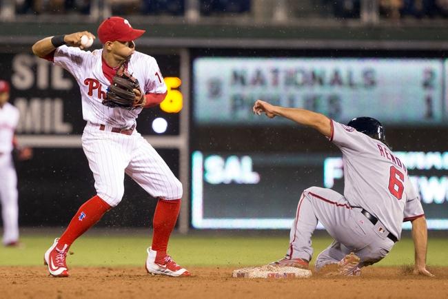 Washington Nationals vs. Philadelphia Phillies - 9/8/16 MLB Pick, Odds, and Prediction