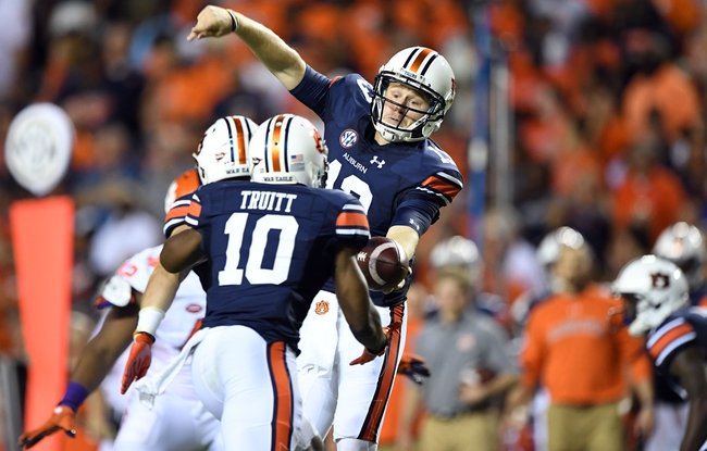 Arkansas State Red Wolves at Auburn Tigers - 9/10/16 College Football Pick, Odds, and Prediction