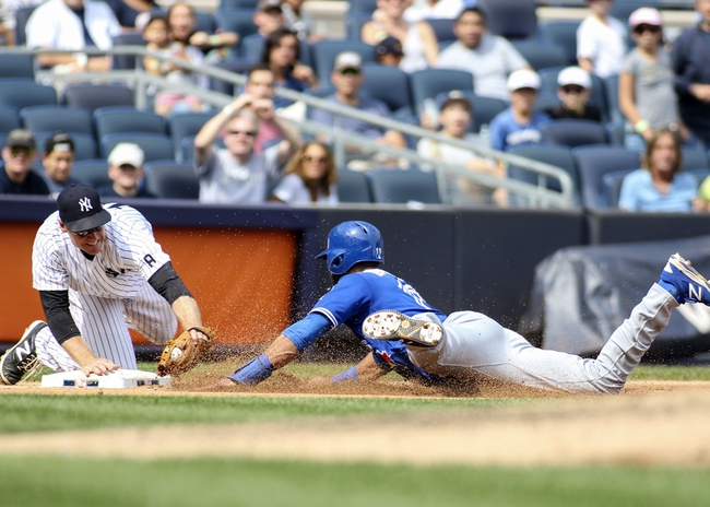 New York Yankees vs. Toronto Blue Jays - 9/6/16 MLB Pick, Odds, and Prediction