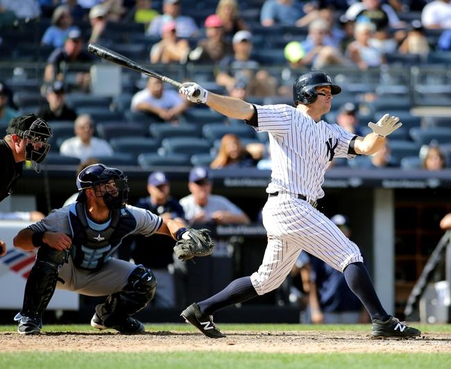 Tampa Bay Rays vs. New York Yankees - 9/20/16 MLB Pick, Odds, and Prediction