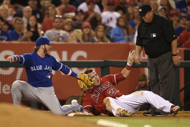 Los Angeles Angels vs. Toronto Blue Jays - 9/18/16 MLB Pick, Odds, and Prediction