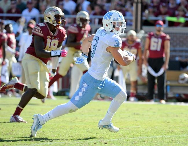 North Carolina Tar Heels at Virginia Cavaliers - 10/22/16 College Football Pick, Odds, and Prediction