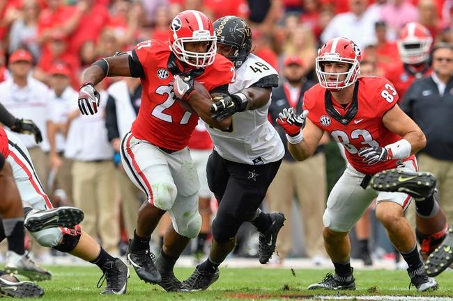 Georgia vs. Louisiana-Lafayette - 11/19/16 College Football Pick, Odds, and Prediction
