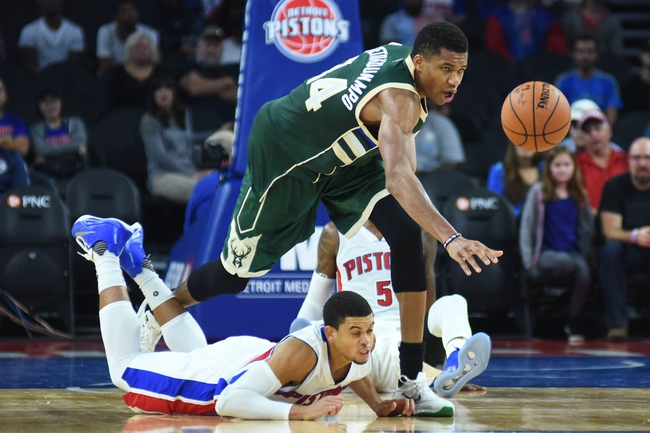 Detroit Pistons vs. Milwaukee Bucks - 10/30/16 NBA Pick, Odds, and Prediction