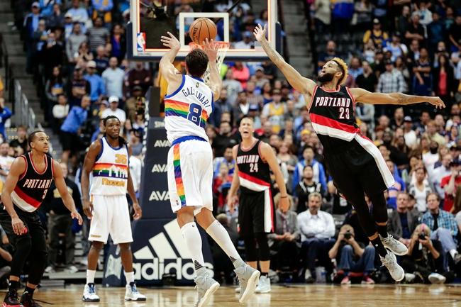 Portland Trail Blazers vs. Denver Nuggets - 11/13/16 NBA Pick, Odds, and Prediction