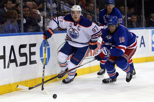 Edmonton Oilers vs. New York Rangers - 11/13/16 NHL Pick, Odds, and Prediction