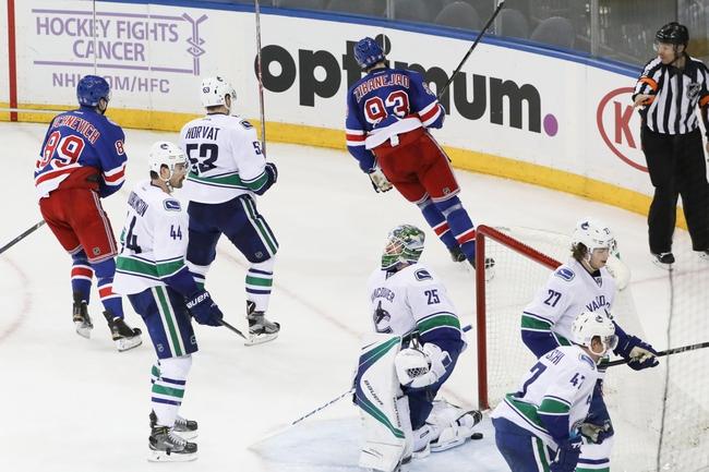 Vancouver Canucks vs. New York Rangers - 11/15/16 NHL Pick, Odds, and Prediction