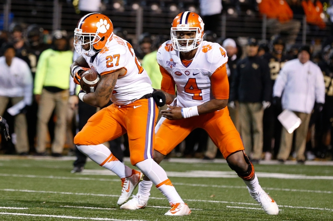 No. 5 Clemson beats Wake 35-13, wraps up division title