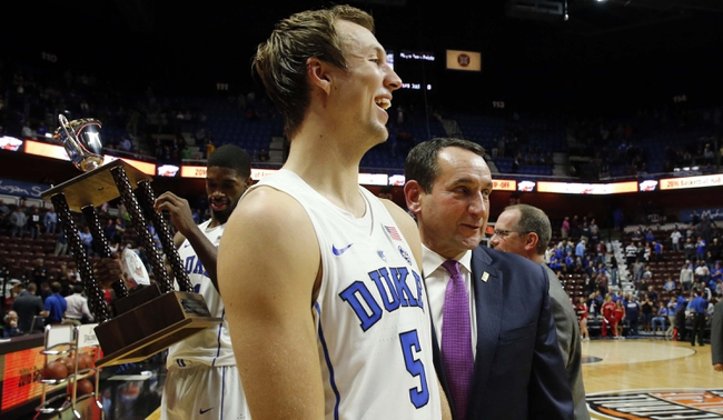 Michigan State at Duke - 11/29/16 College Basketball Pick, Odds, and Prediction