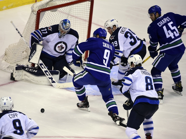 Image result for images of vancouver canucks vs winnipeg jets, december 21,2016