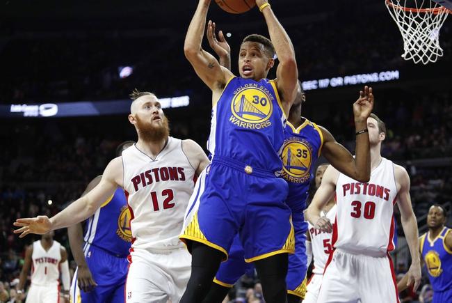Golden State Warriors vs. Detroit Pistons - 1/12/17 NBA Pick, Odds, and Prediction