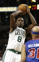 Apr 3, 2013; Boston, MA, USA; Boston Celtics power forward Jeff Green shoots over Detroit Pistons power forward Charlie Villanueva during the fourth quarter of Boston's 98-93 win in an NBA game at TD Garden. Mandatory Credit: Winslow Townson-USA TODAY Sports