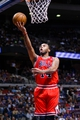 April 7, 2013; Auburn Hills, MI, USA; Chicago Bulls shooting guard Daequan Cook (14) goes to the basket in the second quarter against the Detroit Pistons at The Palace. Mandatory Credit: Rick Osentoski-USA TODAY Sports