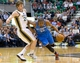 Apr 9, 2013; Salt Lake City, UT, USA; Oklahoma City Thunder small forward Kevin Durant (35) attempts to dribble around Utah Jazz shooting guard Gordon Hayward (20) during the first quarter at EnergySolutions Arena. Mandatory Credit: Russ Isabella-USA TODAY Sports