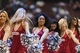 Apr 10, 2013; Philadelphia, PA, USA; Philadelphia 76ers dream team dancers perform during the fourth quarter against the Atlanta Hawks at the Wells Fargo Center. The Hawks defeated the Sixers 124-101. Mandatory Credit: Howard Smith-USA TODAY Sports