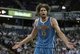 April 10, 2013; Sacramento, CA, USA; New Orleans Hornets center Robin Lopez (15) questions the foul call against him against the Sacramento Kings during the second quarter at Sleep Train Arena. Mandatory Credit: Kelley L Cox-USA TODAY Sports