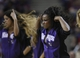 April 10, 2013; Sacramento, CA, USA; Sacramento Kings dancer performs during a timeout against the New Orleans Hornets during the third quarter at Sleep Train Arena. The Sacramento Kings defeated the New Orleans Hornets 121-110. Mandatory Credit: Kelley L Cox-USA TODAY Sports