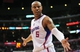 April 10, 2013; Los Angeles, CA, USA; Los Angeles Clippers small forward Caron Butler (5) reacts to a call against him during the second half at Staples Center. Mandatory Credit: Gary A. Vasquez-USA TODAY Sports