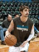 Apr 13, 2013; Minneapolis, MN, USA; Minnesota Timberwolves point guard Alexey Shved (1) warms up before playing the Phoenix Suns at Target Center. Mandatory Credit:  Greg Smith-USA TODAY Sports