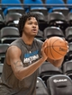 Apr 13, 2013; Minneapolis, MN, USA; Minnesota Timberwolves small forward Mickael Gelabale (15) warms up before playing the Phoenix Suns at Target Center. Mandatory Credit:  Greg Smith-USA TODAY Sports