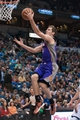 Apr 13, 2013; Minneapolis, MN, USA; Phoenix Suns point guard Goran Dragic (1) shoots during the first quarter against the Minnesota Timberwolves at the Target Center. Timberwolves won 105-93. Mandatory Credit:  Greg Smith-USA TODAY Sports