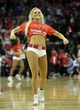 April 14, 2013; Houston, TX, USA; Houston Rockets dancer performs against the Sacramento Kings in the fourth quarter at the Toyota Center. The Rockets defeated the Kings 121-100. Mandatory Credit: Brett Davis-USA TODAY Sports