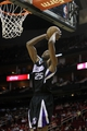 April 14, 2013; Houston, TX, USA; Sacramento Kings small forward Travis Outlaw (25) dunks the ball against the Houston Rockets in the fourth quarter at the Toyota Center. The Rockets defeated the Kings 121-100. Mandatory Credit: Brett Davis-USA TODAY Sports