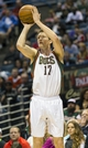 Apr 15, 2013; Milwaukee, WI, USA;  Milwaukee Bucks forward Mike Dunleavy (17) shoots during the fourth quarter against the Denver Nuggets at the BMO Harris Bradley Center.  Denver won 112-111.  Mandatory Credit: Jeff Hanisch-USA TODAY Sports