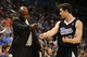 Apr 15, 2013; Oklahoma City, OK, USA; Sacramento Kings head coach Keith Smart discusses a play with Kings guard Jimmer Fredette (7) in action against the Oklahoma City Thunder during the second half at Chesapeake Energy Arena. Mandatory Credit: Mark D. Smith-USA TODAY Sports